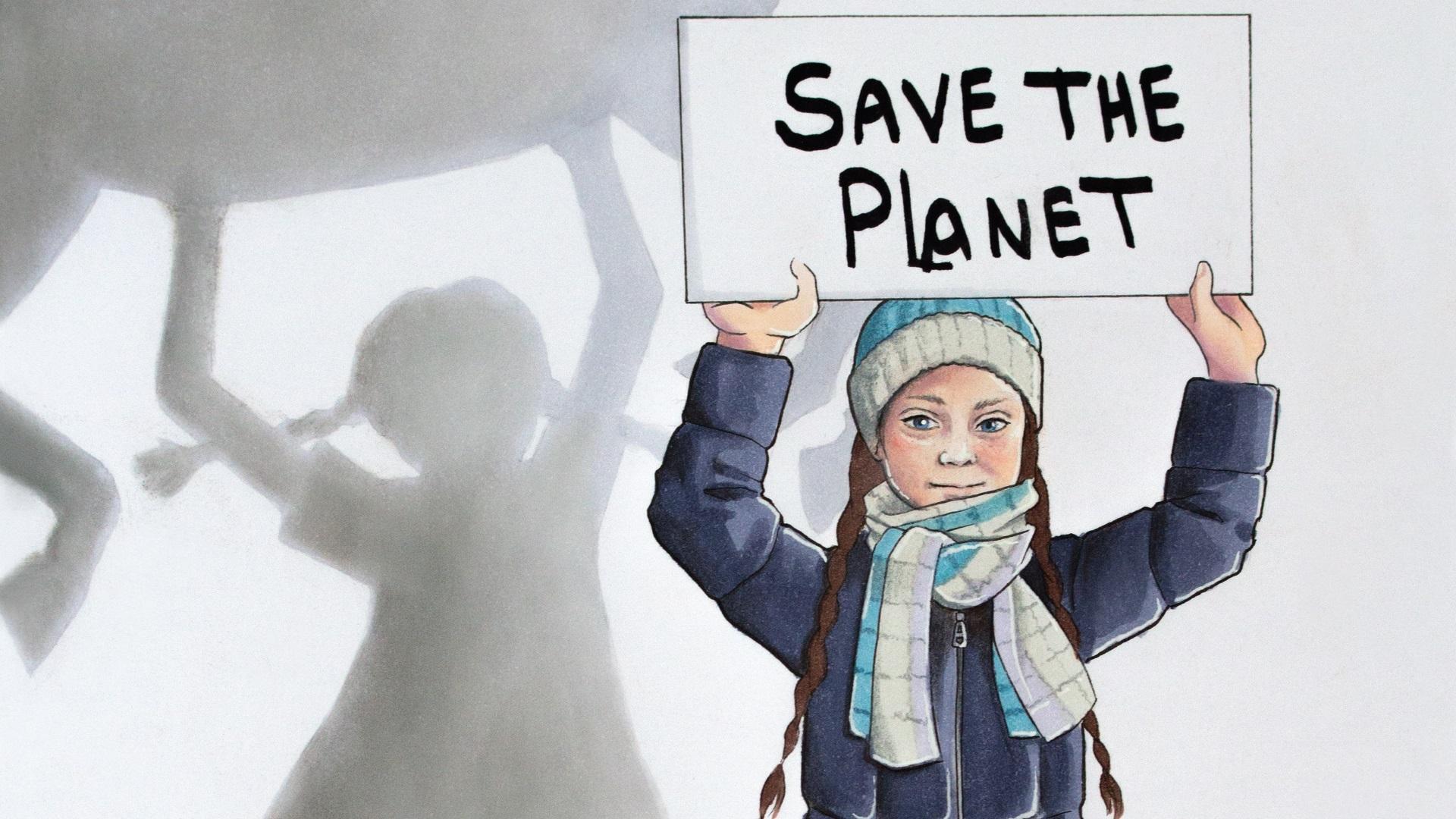 Greta Thunberg Update: Greta Thunberg Superheldin • Das Hochformat